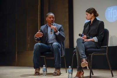 """Fruitvale Station"" Director Ryan Coogler & Star Melanie DIaz speak at Independent Film Week's Filmmaker Conference. Photo Credit: Aisha Singleton"
