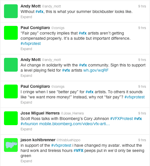 twitter green boxes